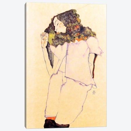 Sleeping Girl Canvas Print #8284} by Egon Schiele Canvas Art Print