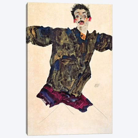Self Portrait with Outstretched Arms Canvas Print #8292} by Egon Schiele Art Print