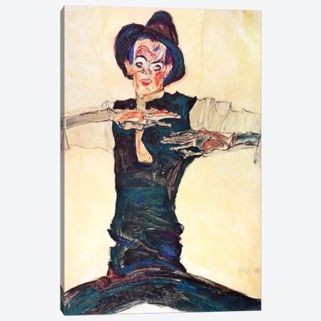 Self-Portrait with a Brown Hat Canvas Print #8293} by Egon Schiele Art Print