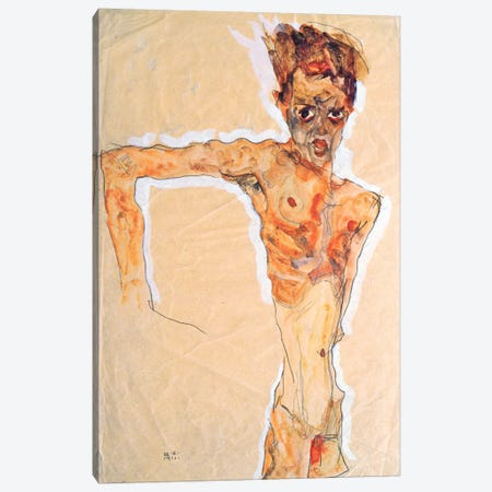 Self-Portrait III Canvas Print #8294} by Egon Schiele Canvas Art