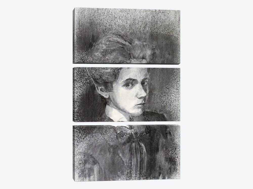 Self-Portrait IV by Egon Schiele 3-piece Canvas Artwork