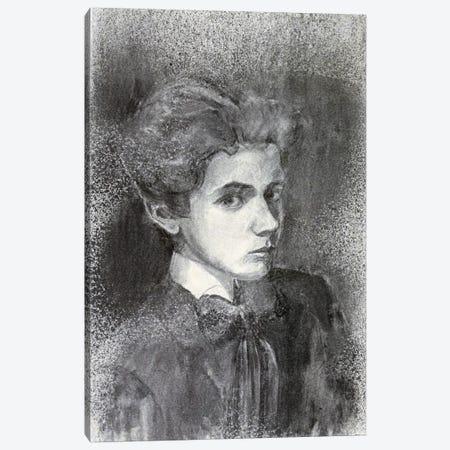 Self-Portrait IV 3-Piece Canvas #8295} by Egon Schiele Canvas Wall Art