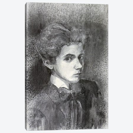 Self-Portrait IV Canvas Print #8295} by Egon Schiele Canvas Wall Art