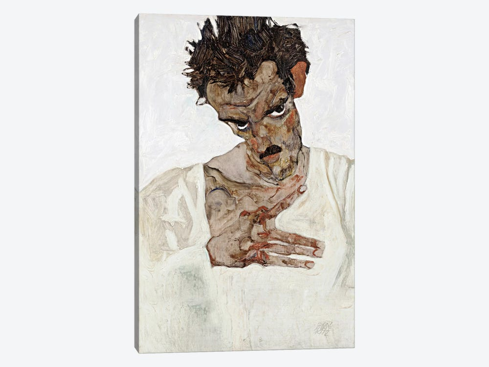 Self-Portrait with Lowered Head by Egon Schiele 1-piece Art Print
