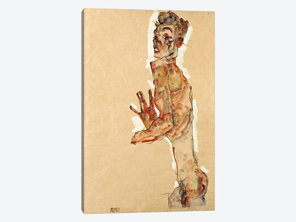 Self-Portrait with Splayed Fingers by Egon Schiele 1-piece Art Print