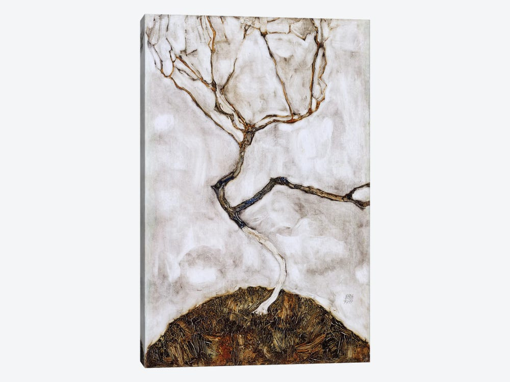 Small Tree in Late Autumn by Egon Schiele 1-piece Art Print