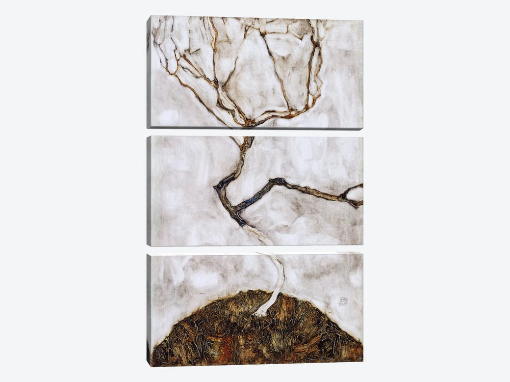 Small Tree in Late Autumn by Egon Schiele 3-piece Art Print