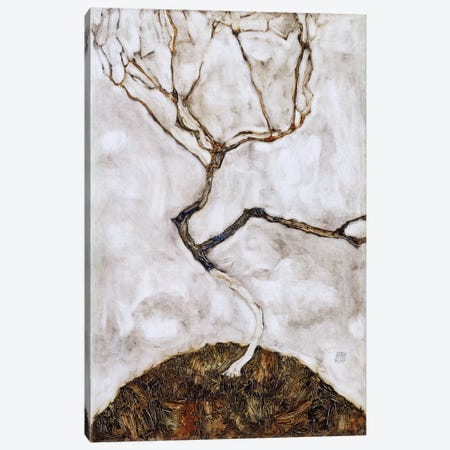 Small Tree in Late Autumn Canvas Print #8306} by Egon Schiele Canvas Artwork