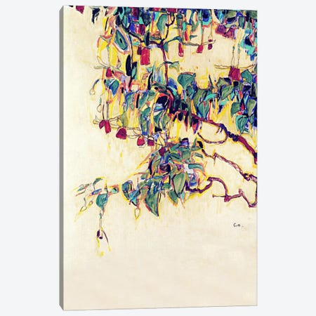 Sun Tree Canvas Print #8307} by Egon Schiele Canvas Artwork