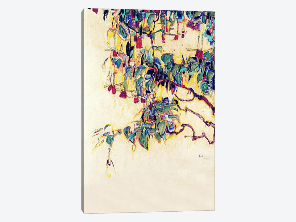 Sun Tree by Egon Schiele 8-piece Canvas Wall Art