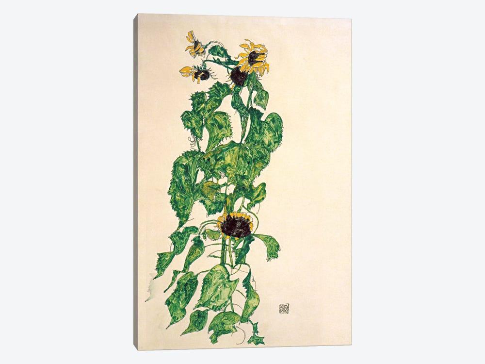 Sunflowers II by Egon Schiele 1-piece Canvas Artwork
