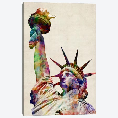 Statue of Liberty Canvas Print #8764} by Michael Tompsett Canvas Artwork