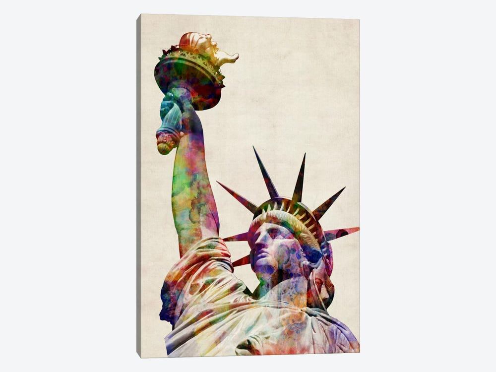 Statue of Liberty by Michael Tompsett 1-piece Canvas Wall Art