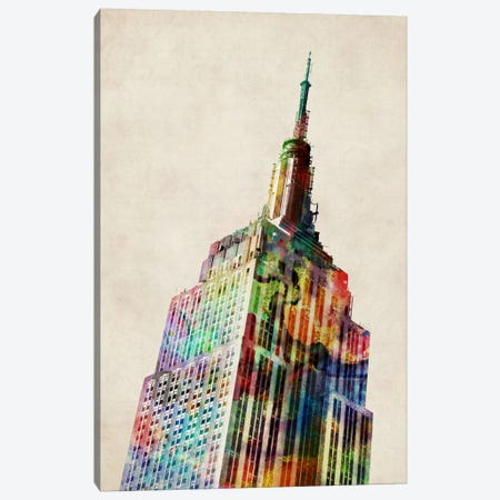 Empire State Building Canvas Print #8769} by Michael Tompsett Canvas Print
