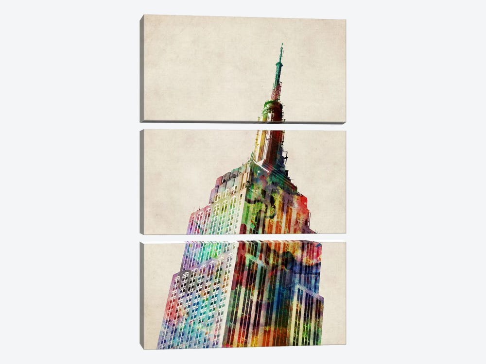 Empire State Building by Michael Tompsett 3-piece Art Print