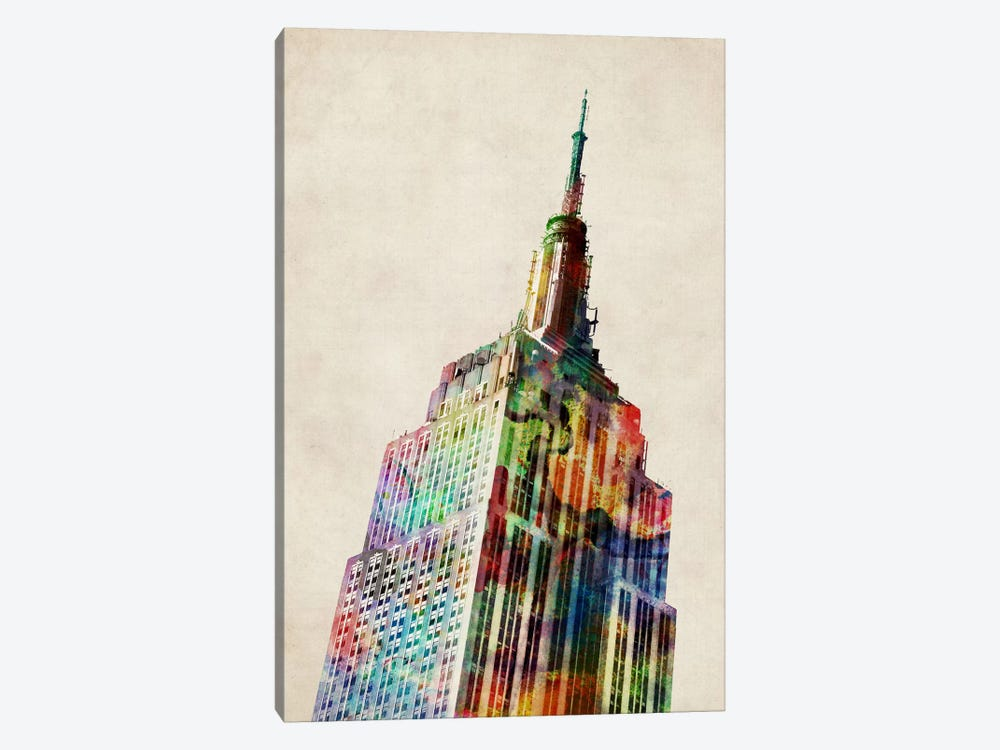 Empire State Building by Michael Tompsett 1-piece Canvas Print