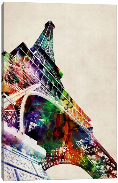 Eiffel Tower watercolor Canvas Art Print