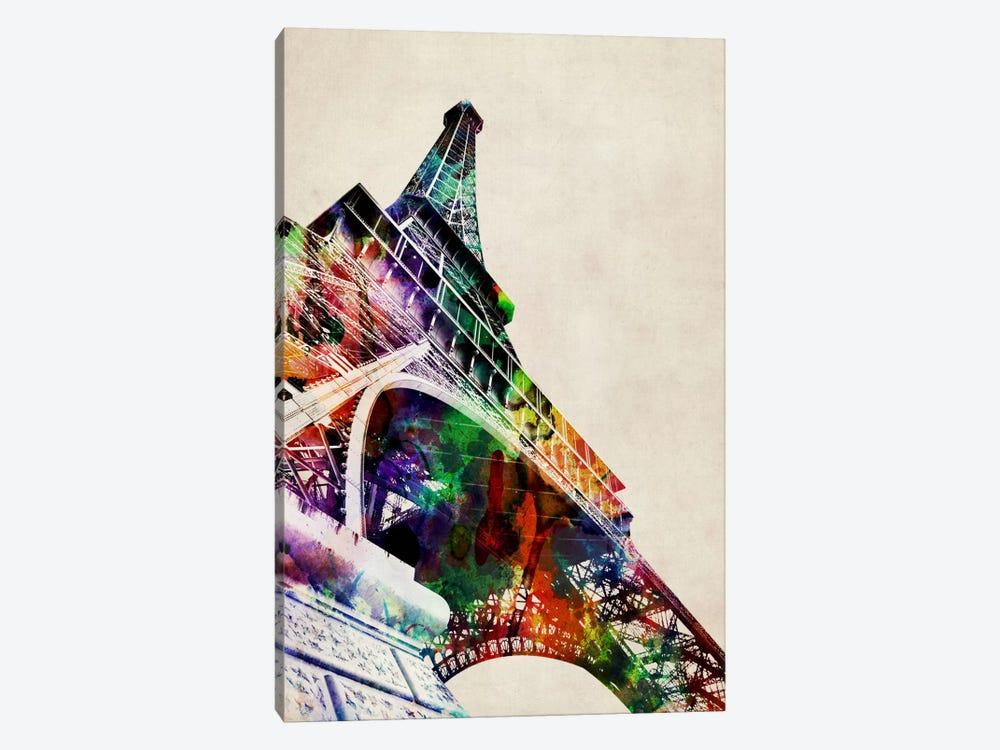 Eiffel Tower watercolor by Michael Tompsett 1-piece Canvas Art Print