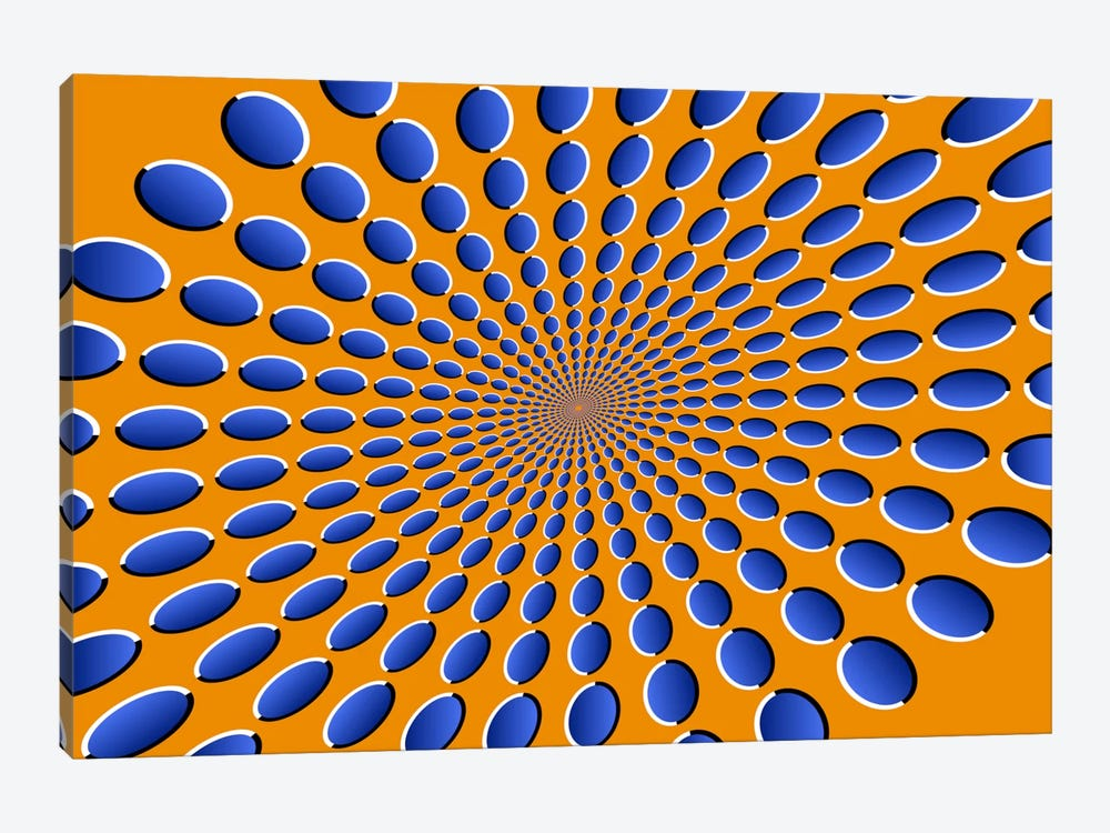Optical Illusions by Michael Tompsett 1-piece Canvas Artwork