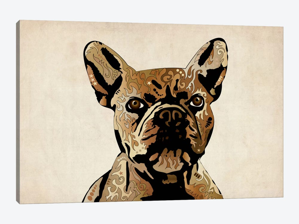 French Bulldog by Michael Tompsett 1-piece Canvas Art Print