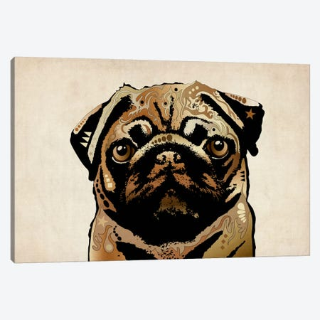 Pug Dog Canvas Print #8773} by Michael Tompsett Canvas Wall Art
