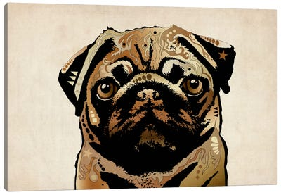 Pug Dog Canvas Art Print
