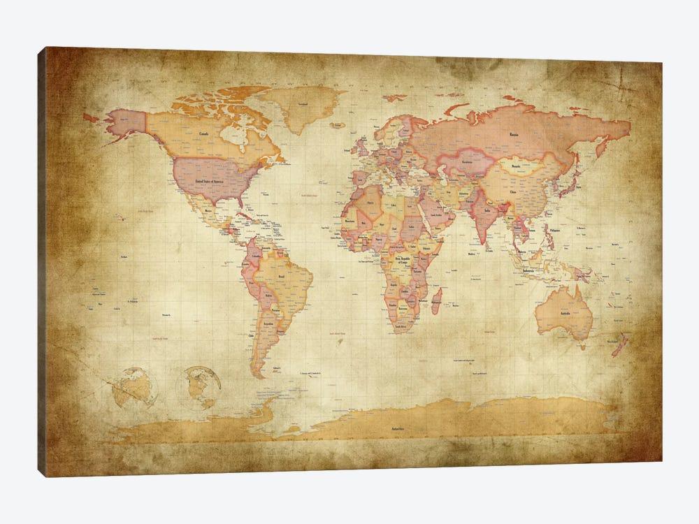 Map of The World II by Michael Tompsett 1-piece Art Print