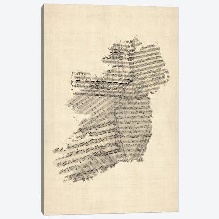 Ireland Sheet Music Map Canvas Print #8780} by Michael Tompsett Canvas Art Print
