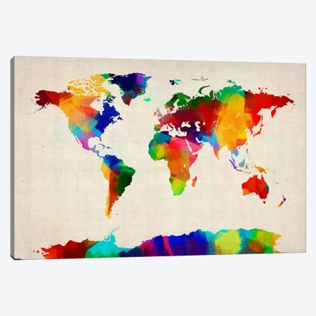 Map of the World IV Canvas Print #8790} by Michael Tompsett Canvas Artwork
