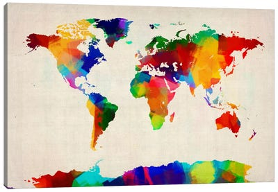 Map of the World IV Canvas Art Print