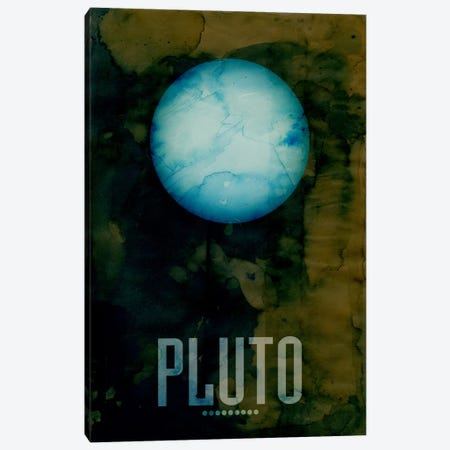 The Planet Pluto Canvas Print #8797} by Michael Tompsett Canvas Print