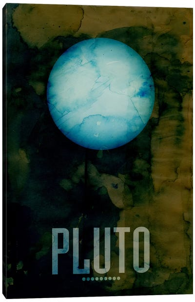 The Planet Pluto Canvas Art Print