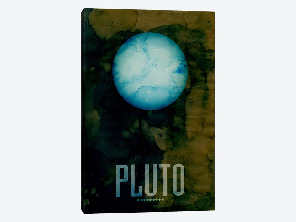 The Planet Pluto by Michael Tompsett 1-piece Canvas Art