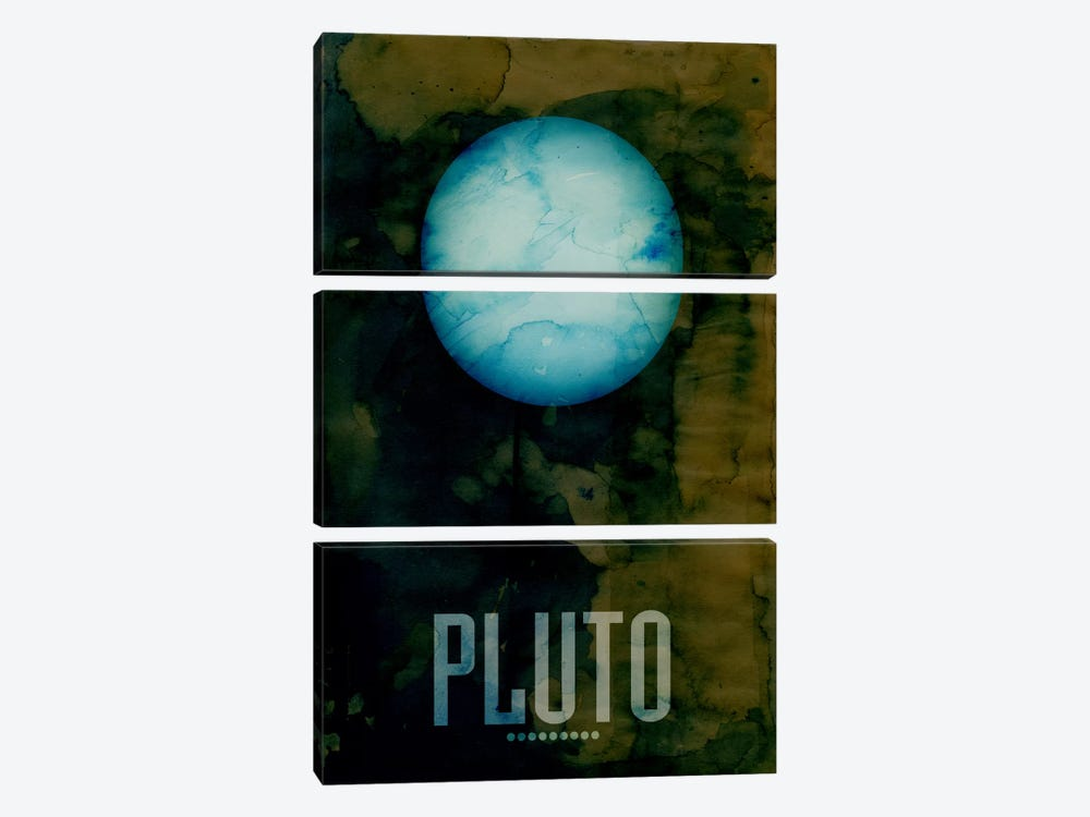 The Planet Pluto by Michael Tompsett 3-piece Canvas Artwork