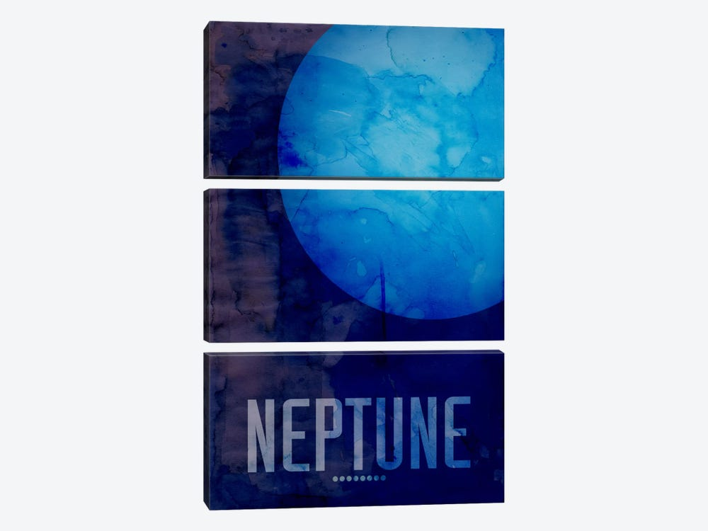 The Planet Neptune by Michael Tompsett 3-piece Art Print