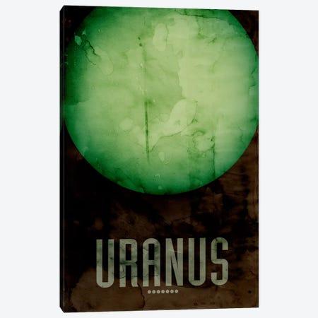 The Planet Uranus Canvas Print #8799} by Michael Tompsett Canvas Wall Art