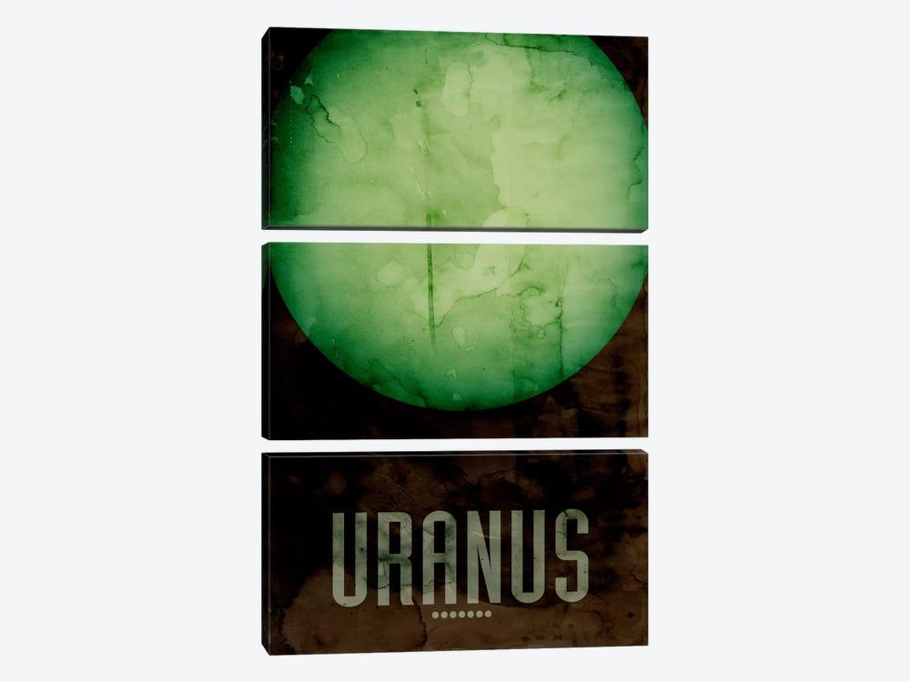 The Planet Uranus by Michael Tompsett 3-piece Canvas Wall Art