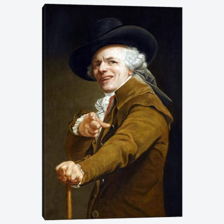 Joseph Ducreaux's Self-portrait Canvas Print #8806} by Joseph Ducreux Art Print
