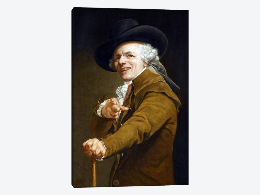 Joseph Ducreaux's Self-portrait by Joseph Ducreux 1-piece Canvas Art