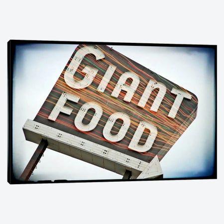 Vintage Giant Food Sign Canvas Print #8813} by Steve Snodgrass Canvas Art Print