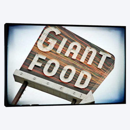 Vintage Giant Food Sign Canvas Print #8813} by Steve Snodgrass Canvas Art Print