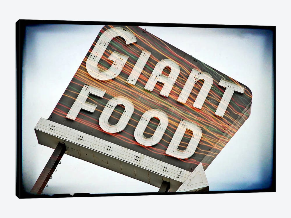 Vintage Giant Food Sign by Steve Snodgrass 1-piece Canvas Art