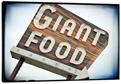 Vintage Giant Food Sign Canvas Art Print