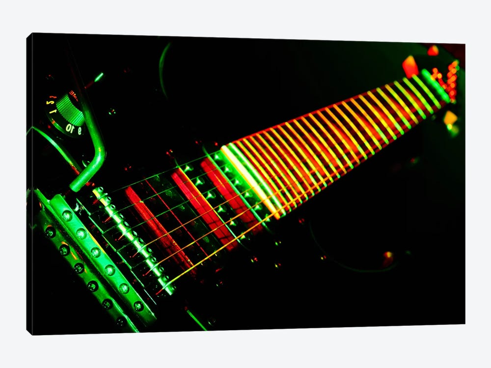 Funky Guitar by Unknown Artist 1-piece Canvas Art Print