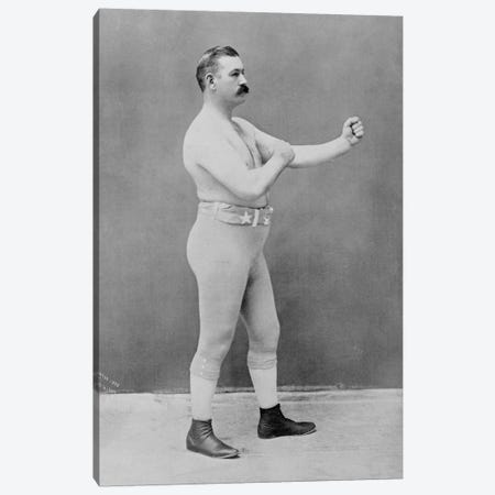 Boxing Champion John L. Sullivan Canvas Print #8815} by Unknown Artist Canvas Wall Art