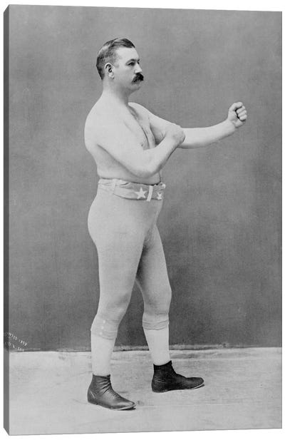 Boxing Champion John L. Sullivan Canvas Art Print