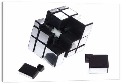 Mirror Cube Disassembled Canvas Art Print