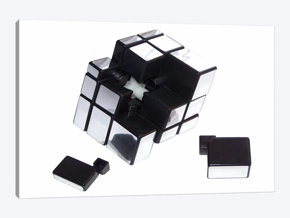 Mirror Cube Disassembled by Thomas 1-piece Canvas Art
