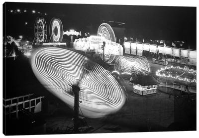 Nebraska State Fair Rides Canvas Print #8821