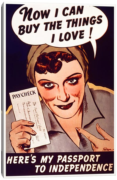 Can't Buy Me Love (Vintage Poster) Canvas Print #8822